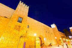 Palazzo di Almudaina in Palma de Mallorca Majorca Fotografia Stock