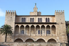 Palazzo di Almudaina in Palma di Maiorca Fotografia Stock Libera da Diritti