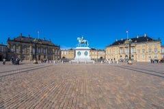 Palazzo di Amalienborg, Copenhaghen, Danimarca Immagine Stock Libera da Diritti