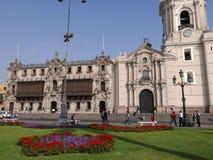 Palazzo di Archbishop's a Lima del centro Fotografia Stock Libera da Diritti