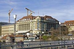 Palazzo di Bellevue dell'hotel a Berna Immagine Stock