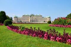 Palazzo di belvedere a Vienna Fotografia Stock