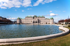 Palazzo di belvedere a Vienna Fotografie Stock