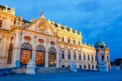 Palazzo di belvedere a Vienna, Austria immagini stock