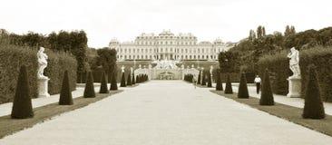 Palazzo di belvedere a Vienna, Austria immagini stock libere da diritti