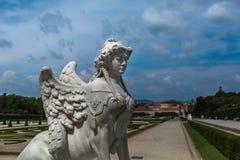 Palazzo di belvedere a Vienna, Austria fotografie stock