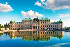 Palazzo di belvedere a Vienna, Austria immagine stock libera da diritti