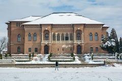 Palazzo di Brancoveanu dalla Romania, città di Mogosoaia immagine stock