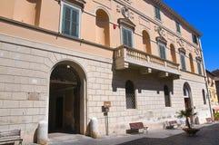 Palazzo di Bruschi-Falgari. Tarquinia. Il Lazio. L'Italia. Fotografie Stock Libere da Diritti
