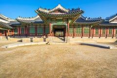 Palazzo di Changdeokgung a Seoul, Corea del Sud fotografia stock