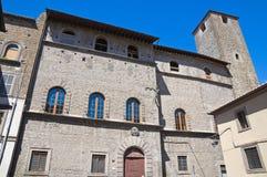 Palazzo di Chigi. Viterbo. Il Lazio. L'Italia. Fotografia Stock Libera da Diritti