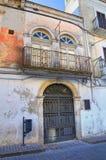 Palazzo di Ciampoli. Monte Sant ' Angelo. La Puglia. L'Italia. Fotografie Stock