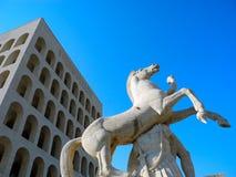 Palazzo di civilizzazione italiana immagini stock libere da diritti