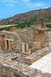 Palazzo di Cnosso su Creta, Grecia Fotografia Stock Libera da Diritti