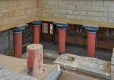 Palazzo di Cnosso su Creta, Grecia Fotografia Stock