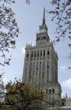 Palazzo di coltura e di scienza - Varsavia Immagine Stock Libera da Diritti