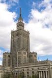 Palazzo di coltura e di scienza, Varsavia Fotografia Stock Libera da Diritti