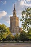 Palazzo di coltura e di scienza, Varsavia, Polonia Fotografia Stock