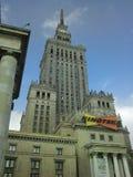 Palazzo di coltura e di scienza a Varsavia, Polonia Fotografie Stock Libere da Diritti