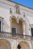 Palazzo di Comi. D'Otranto di Corigliano. La Puglia. L'Italia. Immagine Stock