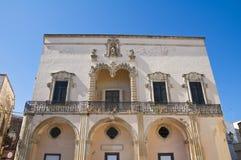 Palazzo di Comi. D'Otranto di Corigliano. La Puglia. L'Italia. Fotografie Stock