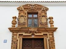 Palazzo di Condes de ValparaÃso, Almagro, Spagna Fotografia Stock Libera da Diritti