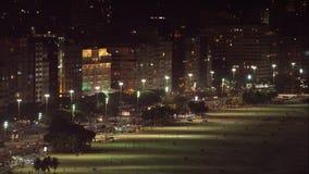 Palazzo di Copacabana dell'hotel alla notte Immagine Stock Libera da Diritti