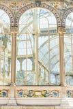 Palazzo di cristallo Madrid Fotografia Stock Libera da Diritti