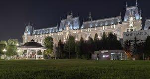 Palazzo di cultura dalla città di Iasi, Romania immagini stock