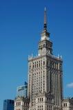 Palazzo di cultura e di scienza, Varsavia fotografia stock