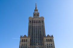 Palazzo di cultura e di scienza, Varsavia, Polonia Fotografia Stock Libera da Diritti