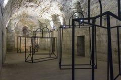 Palazzo di Diocleziano in Spalato, con un'installazione di arte Fotografie Stock Libere da Diritti