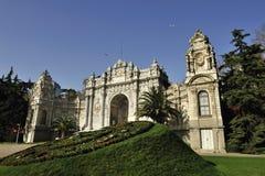 Palazzo di Dolmabahce, Costantinopoli, Turchia fotografie stock libere da diritti