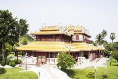 Palazzo di dolore di colpo della provincia di Ayutthaya Immagine Stock