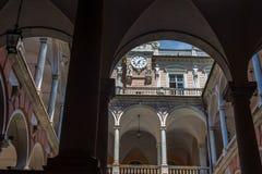 Palazzo di Doria Tursi di Genova La Liguria, Italia fotografia stock