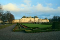 Palazzo di Drottningholm Immagini Stock Libere da Diritti
