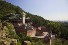 Palazzo di estate con architettura storica a Pechino Fotografia Stock Libera da Diritti