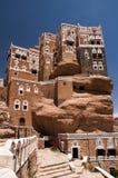 Palazzo di estate ai wadi Dhar nel Yemen Immagini Stock