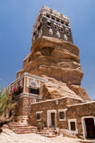 Palazzo di estate ai wadi Dhar nel Yemen Fotografie Stock