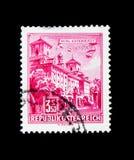 Palazzo di Esterhazy, Eisenstadt, serie delle costruzioni, circa 1962 Fotografia Stock