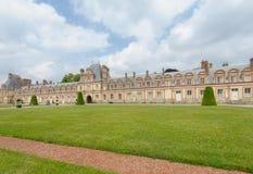 Palazzo di Fontainebleau in Francia fotografie stock libere da diritti