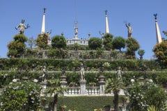 Palazzo di Gardensof Borromeo su Isola Bella, Stresa Fotografia Stock