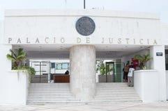 Palazzo di giustizia in Chetumal Fotografia Stock