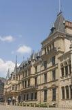 Palazzo di grande duca a Lussemburgo, vista laterale Fotografie Stock Libere da Diritti