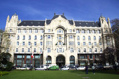 Palazzo di Gresham a Budapest immagine stock libera da diritti