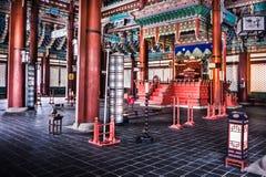 Palazzo di Gyeongbokgung - palazzo reale principale della dinastia di Joseon fotografie stock libere da diritti