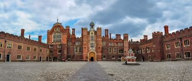 Palazzo di Hampton Court, Londra, Regno Unito fotografia stock