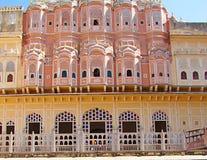 Palazzo di Hawa Mahal, Jaipur, Ragiastan, India fotografia stock