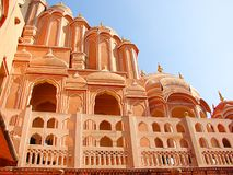 Palazzo di Hawa Mahal, Jaipur, Ragiastan, India fotografia stock libera da diritti