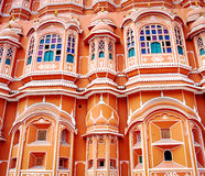 Palazzo di Hawa Mahal (palazzo dei venti) a Jaipur, Ragiastan fotografie stock libere da diritti